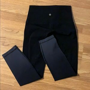 Lululemon black ombré leggings